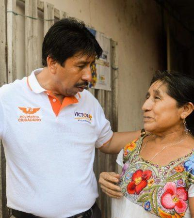"""""""La cultura, las artes y la producción de miel son prioridades en mi proyecto"""", dice Víctor Mas en Cobá"""