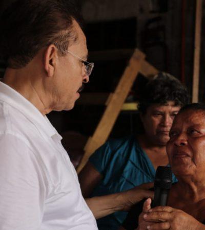 Arremete Martín de la Cruz contra el uso político del caso Aguakán porque engañan a la gente; pide que la empresa cumpla en Solidaridad y rechaza cobros excesivos por el agua