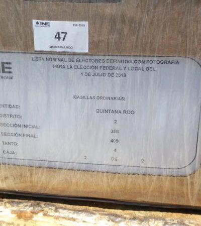 Recibe INE de Quintana Roo los listados electorales definitivos para la elección del 1 de julio