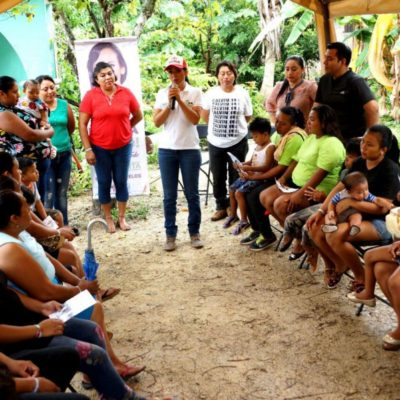 Laura Fernández promete dejar en nivel 'cero' el rezago en infraestructura y servicios en Puerto Morelos