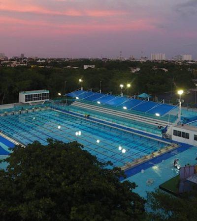 5 MDP DESPUÉS…: La Alberca Olímpica de Cancún luce remodelación como magno escenario de competencias juveniles