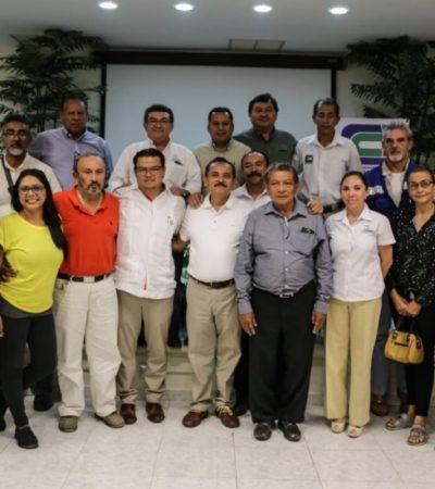 Martín de la Cruz Gómez se asesorará con los integrantes del Colegio de Ingenieros y Arquitectos de la Riviera Maya para engrandecer Solidaridad