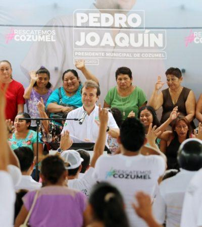 Pedro Joaquín impulsará el uso de tecnología de punta para acabar con la delincuencia en Cozumel