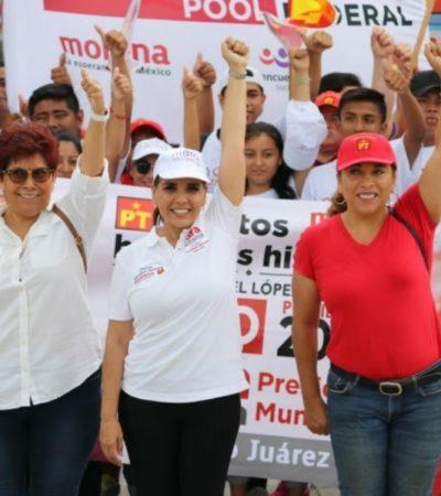 Mara Lezama se propone abatir la inseguridad y dar justicia social a las mujeres de Cancún
