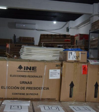 El material electoral para que voten 350 mil ciudadanos ha llegado a Cancún