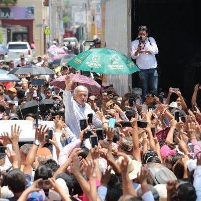 """""""A mí me va a cuidar el pueblo"""", dice AMLO ante la inseguridad en el país; recalca que los candidatos de Morena son libres de pedir custodia o intervención de Derechos Humanos"""