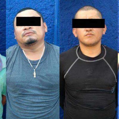 CAPTURAN A EMPISTOLADOS EN CANCÚN: Detienen a 4 presuntos integrantes de 'Los Pelones'