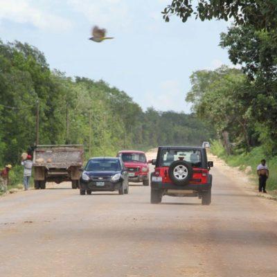 Candidato plantea mejorar la carretera hasta Chiquilá
