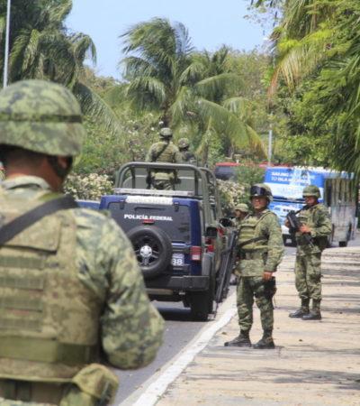 """Estrategias de seguridad avanzan positivamente"", dice Carlos Joaquín sobre arribo de militares a Quintana Roo"