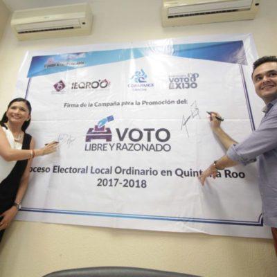 """""""Participo, Voto y Exijo"""", campaña de promoción de Ieqroo y Coparmex para motivar a votantes"""
