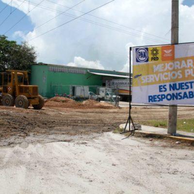 """""""Relleno y pavimentación del 'megabache' corren por cuenta de empresarios y es muestra de apoyo a la campaña del Frente"""", dice Jorge Aguilar Osorio"""