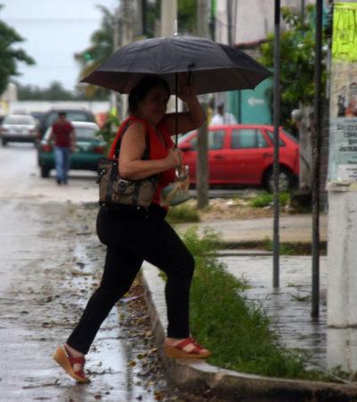 Prevén lluvias y fuertes rachas de viento del noreste, en el norte y centro de Quintana Roo