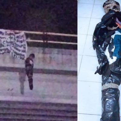 AMENAZAN A MIGUEL RAMÓN: Cuelgan supuesta narcomanta y muñeco de un puente en Playa del Carmen para lanzar advertencia contra candidato del 'Frente' a la diputación por el Distrito 01; gobierno denunciará ante PGR