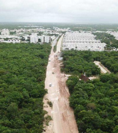 AVANZAN OBRAS DE LA AVENIDA 135: Invierten más de 14 mdp para comunicar a fraccionamiento del polígono sur de Cancún con la Avenida Huayacán