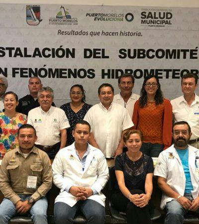 Reinstalan subcomité de Salud en caso de huracanes en Puerto Morelos