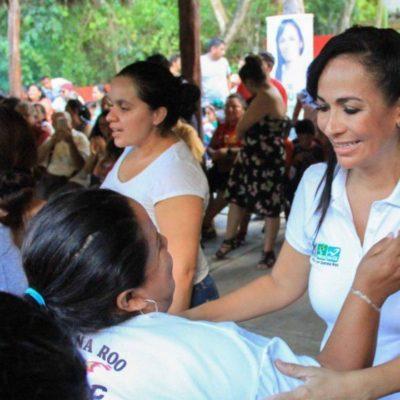 Laura Fernández promete dar continuidad al 'progreso y transformación' de Puerto Morelos