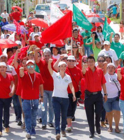 Laura Fernández dice que seguirá transformando Puerto Morelos
