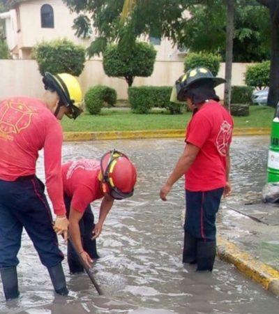 Cuerpos de rescate y prevención dan continuidad al Operativo Tormenta ante afectaciones por lluvias en Cancún