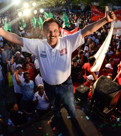 CIERRE DE CAMPAÑA EN PLAYA: Miles respaldan proyecto de Martín de la Cruz en Solidaridad