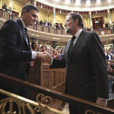 CAMBIO DE PODER EN ESPAÑA: Pedro Sánchez, del PSOE, se convierte en nuevo Presidente tras ganar la moción de censura contra Mariano Rajoy
