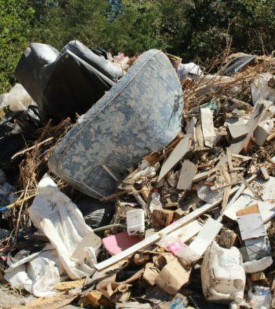 Basureros clandestinos incrementan contaminación en Playa del Carmen; vecinos piden actuación de autoridades municipales