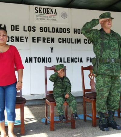 Ejército Mexicano cumple el sueño de dos pequeños de ser 'soldados por un día'