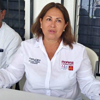 Patricia Palma, candidata de Morena por el Distrito 02, acusa que partidos de la coalición no le han otorgado recursos para la campaña; pide que el INE esclarezca dónde quedó el dinero