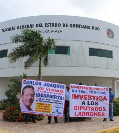 PROTESTA EN PLAYA CONTRA EL CONGRESO: Asociación 'Somos Tus Ojos' reclaman ante la Fiscalía por no investigar supuesto desvío millonario y negar información; Legislatura desmiente acusaciones