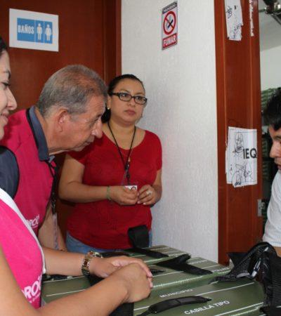 Registran problemas en el inicio de entrega de los paquetes electorales por parte del Ieqroo en Solidaridad; funcionarios de casilla aplazan la recepción del material que se usará el próximo domingo en la jornada electoral