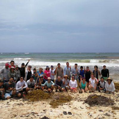Moce Yax Cuxtal y ciudadanos se unen a la limpieza de playas en Xcacel-Xcacelito