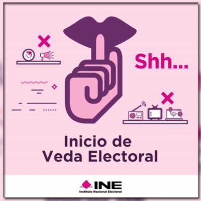 TERMINAN CAMPAÑAS E INICIA VEDA ELECTORAL: A partir del primer minuto de este jueves los partidos políticos y sus candidatos deberán abstenerse de promover su imagen