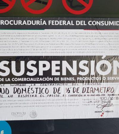 Profeco impone suspensión a Aguakan