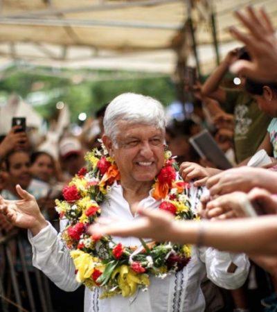 Continúa AMLO gira en Chiapas a un día del debate; apuesta a ganar la elección y a entenderse con Trump