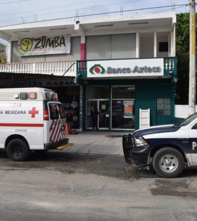 OTRO ASALTO EN BANCO AZTECA EN CANCÚN: Ladrones atracan a cuentahabientes y huyen; se desconoce el monto del botín