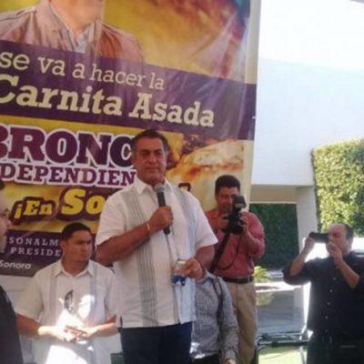 HACE 'EL BRONCO' CAMPAÑA DURANTE CARNES ASADAS: Invita a fiesta en su rancho tras las elecciones; él pondrá cervezas y tequila