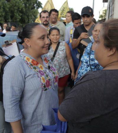 Asegura Cristina Torres que continuará apoyando la economía de las familias en Solidaridad con créditos a la palabra