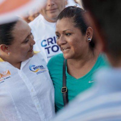 Dice Cristina Torres que continuará trabajando por las familias de Solidaridad