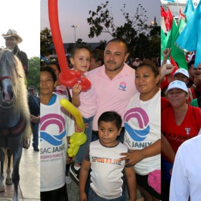 ¡TERMINAN LAS CAMPAÑAS!: En Cancún concluye proselitismo tras un accidentado proceso en el que dos coaliciones perdieron a sus candidatos e improvisaron