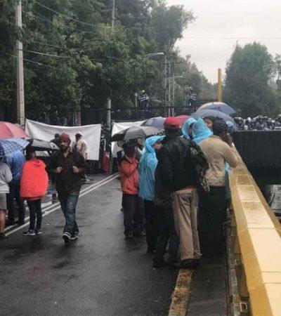 Desquician campesinos campechanos vialidad en CDMX; exigen atención en asuntos de tierras
