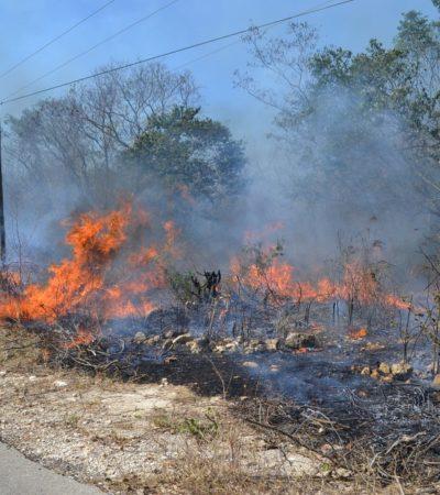 Provocan incendios cierre de carretera Coatzacoalcos-Minatitlán
