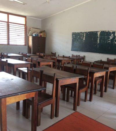 Escuelas de Carrillo Puerto registraron el 70 % de ausentismo estudiantil por lluvias