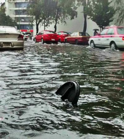 Arrastra corriente de agua a niño y muere ahogado en una coladera en la CDMX