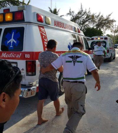 Cinco heridos en choque de embarcaciones en Punta Sam
