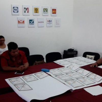 Consejo municipal del Ieqroo realiza simulacro de conteo de votos en Cozumel