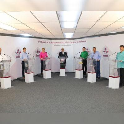 Debatirán esta noche los seis candidatos a la gubernatura de Tabasco