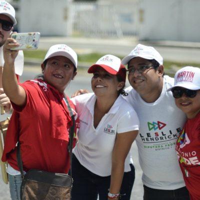 Impulsará Leslie Hendricks proyectos como el drenaje integral para Playa del Carmen y la instalación de cámaras de seguridad