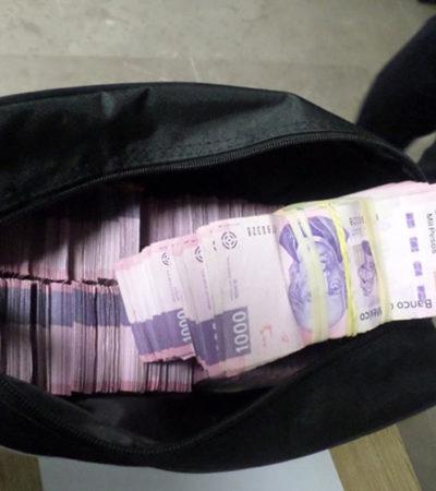 Detienen a mujer con más de un millón de pesos en efectivo; viajaba en autobús de Chiapas a la CDMX
