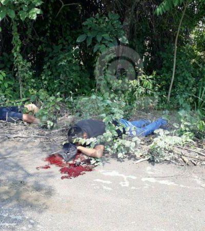 VIOLENCIA EN TABASCO: Ejecutan a dos hombres en límites de Cárdenas y Huimanguillo