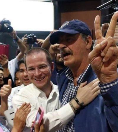 'BANDAZOS' DE FOX: Abraza a Anaya luego de la embestida que sufrió por el video, pero su candidato es Meade según ha dicho