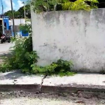 Se hunden aproximadamente 50 casas de la colonia Aarón Merino Fernández, en Chetumal